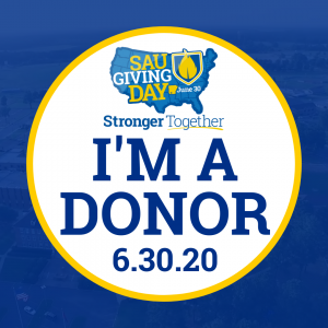 I'm a donor! - SAU Giving Day